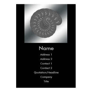 Monochrome Spiral Graphic. Large Business Card
