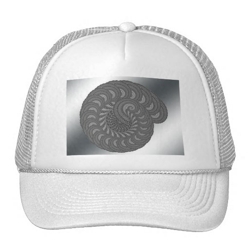 Monochrome Spiral Graphic. Trucker Hat
