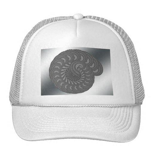 Monochrome Spiral Graphic. Trucker Hats