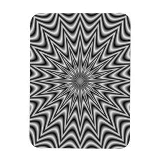Monochrome Star Rectangular Magnet