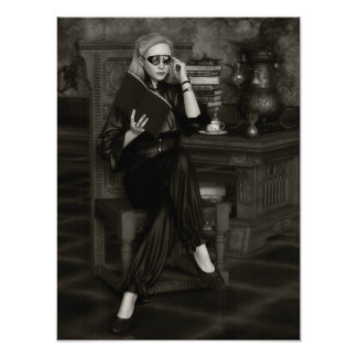 Monochrome Steampunk Alchemist Photo Print