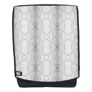 Monochrome Streaks Geometric Pattern Backpack