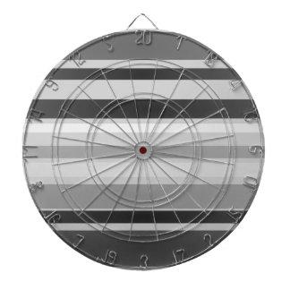 Monochrome Stripes Art Dart Board