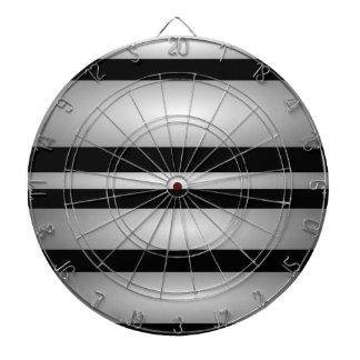 Monochrome Stripes Dart Board