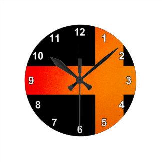Monochrome Sweden Flag Round Clock