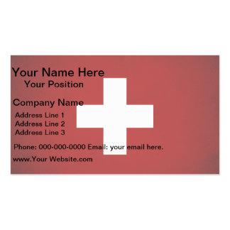 Monochrome Switzerland Flag Business Card