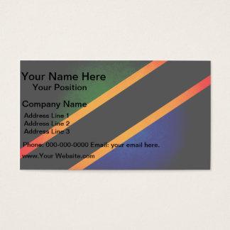Monochrome Tanzania Flag Business Card