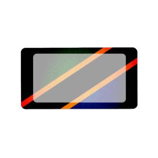 Monochrome Tanzania Flag Label