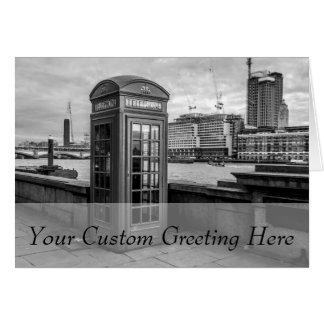 Monochrome Telephone Booth London Card