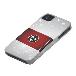 Monochrome Tennessee Flag iPhone 4 Case-Mate Cases