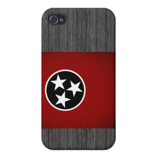 Monochrome Tennessee Flag iPhone 4 Cover