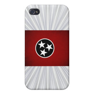 Monochrome Tennessee Flag iPhone 4/4S Cases