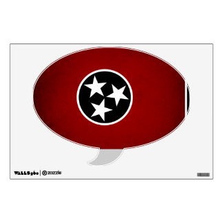 Monochrome Tennessee Flag Wall Decal