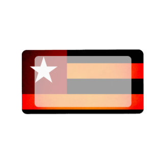 Monochrome Togo Flag Label