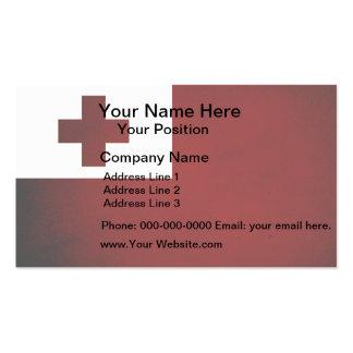 Monochrome Tonga Flag Business Card Templates
