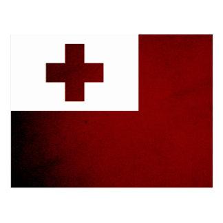 Monochrome Tonga Flag Postcard