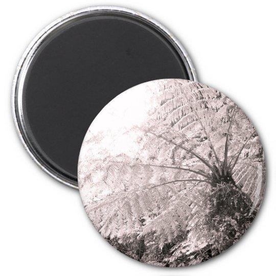 Monochrome Tree Fern Magnet
