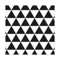 Monochrome Triangle Pattern Canvas Print