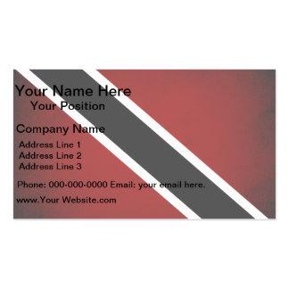 Monochrome Trinidad and Tobago Flag Business Card