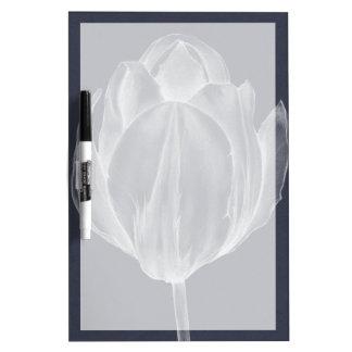 Monochrome Tulip I Dry-Erase Board
