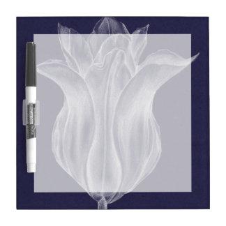 Monochrome Tulip III Dry Erase Board