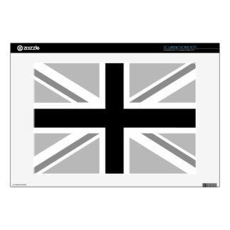 "Monochrome Union Jack/Flag Design Decals For 13"" Laptops"