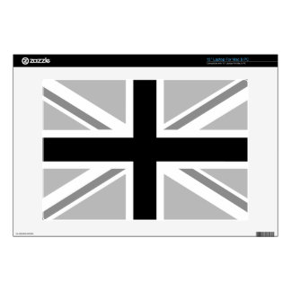 "Monochrome Union Jack/Flag Design Skin For 13"" Laptop"