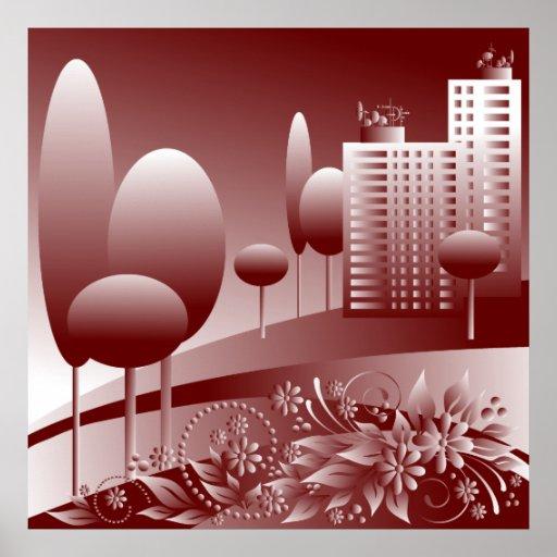 monochrome urban poster