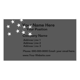 Monochrome Vermont Republic Flag Business Card