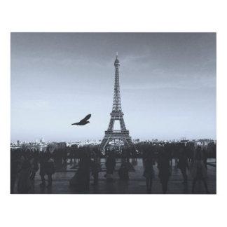Monochrome view of Eiffel Tower, Paris, France… Panel Wall Art