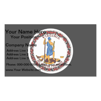 Monochrome Virginia Flag Business Cards