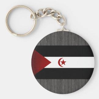 Monochrome Western Sahara Flag Key Chain