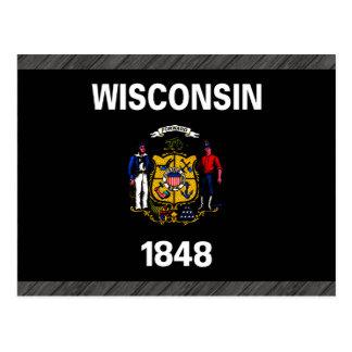 Monochrome Wisconsin Flag Postcard