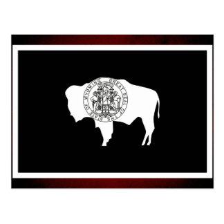 Monochrome Wyoming Flag Postcard