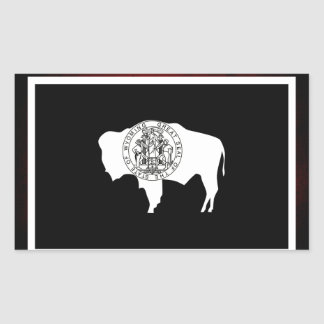 Monochrome Wyoming Flag Rectangular Sticker