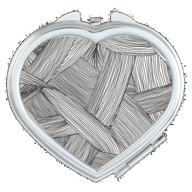 Monochrome Yarn Mirror For Makeup