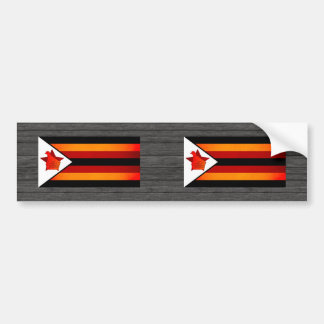 Monochrome Zimbabwe Flag Bumper Stickers