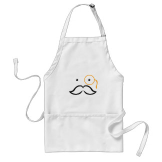 Monocle and Mustache Aprons