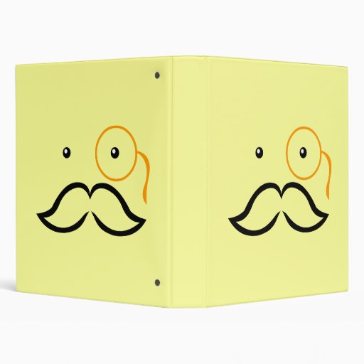 Monocle and Mustache 3 Ring Binders