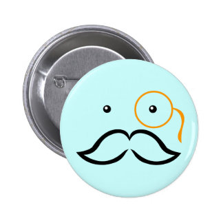 Monocle and Mustache Button
