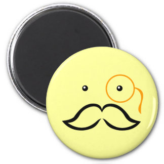 Monocle and Mustache Magnet