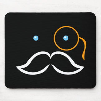 Monocle and Mustache Mouse Pads