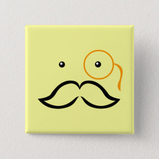 Monocle and Mustache Pinback Button