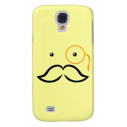 Case-Mate Barely There Samsung Galaxy S4 Case with Stylized Monocle and Mustache  design