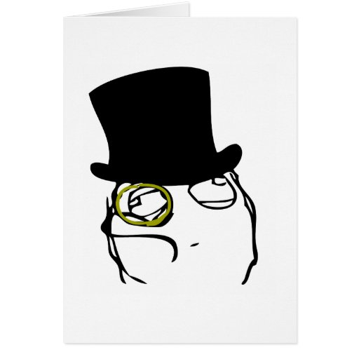 Monocle Greeting Card