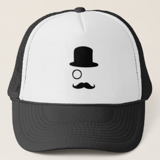 Monocle, Mustache and Top Hat Trucker Hat