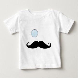Monocle Mustache Baby T-Shirt