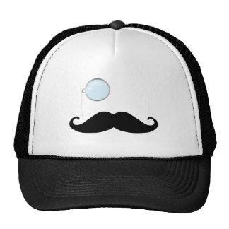 Monocle Mustache Trucker Hat