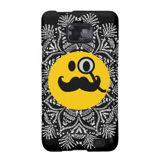 Monocle & Mustache Smiley Samsung Galaxy SII Cases