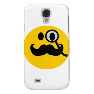 Monocle Mustache Smiley Customizable backgrnd Samsung Galaxy S4 Covers